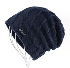 Knitted Striped Skullies & Beanies Winter Hats For Men - Black,Brown,Blue,Gray,Khaki,Red Men's Fashion 2017 Guys Winter For him ideas style Fashion Casual Menswear Cool Style Gift Products Website Store Shop Buy Sell Sale Online Shopping mens Accessories fall autumn Winter AuhaShop.com