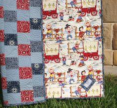 Western Baby Quilt Cowboy Blanket Bandana Patchwork Cowpoke Country via Etsy