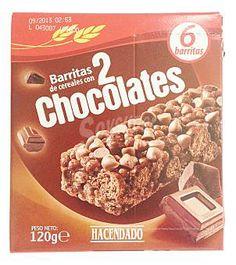 Barritas de cereales con 2 chocolates Hacendado (Mercadona) - 1 barrita 1,5 puntos.