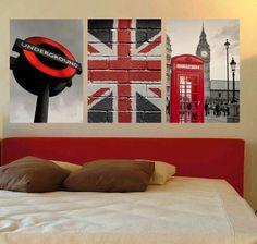 Londen bedroom wall decor