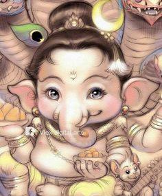 Shiva Art, Ganesha Art, Hindu Art, Ganesha Sketch, Jai Ganesh, Shri Ganesh Images, Shiva Parvati Images, Ganesha Pictures, Lord Ganesha Paintings