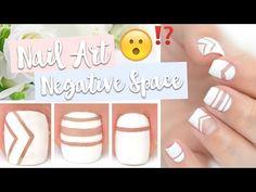 Tuto Nail Art Facile ♡ Negative Space - YouTube