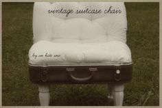 DIY Recycled project: DIY vintage suitcase chair