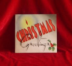 Beautiful Art Deco Christmas Greeting Card from the 1940s. From National Printing Company. This card has been well preserved. No creases, tears