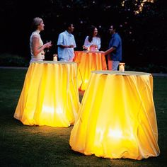 Glowing tablecloth