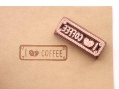 Sello de café ruber quiero café papelería por JapaneseRubberStamps