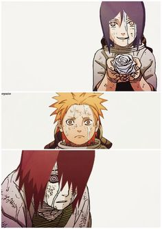 The Amegakure Orphans: Konan, Yahiko, and Nagato. #naruto