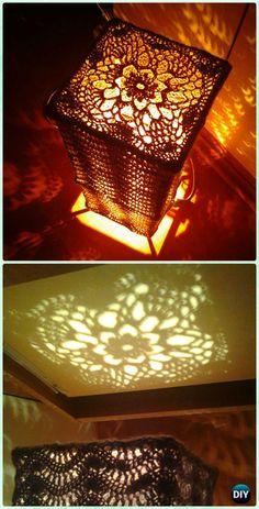 Crochet Powder Pink Wave Lamp Shade Free Pattern - Crochet Lamp Shade Free Patterns