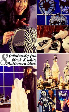 Black & white #Halloween ideas w/ @Kim {The Celebration Shoppe} & #JoAnn :)