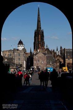Edinburgh Spotlight. Camera Obscura from entrance to Edinburgh castle.