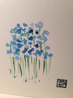 hand painted watercolor cards gardenblooms.etsy.com