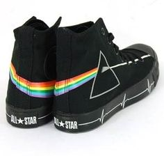 Guess who just found out that they made a Pink Floyd Converse All Star shoe? I think that my boyfriend Jason would fall in love with these shoes.
