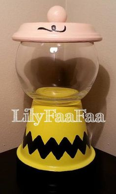 Charlie Brown Inspired Faux Gumball Machine by LilyFaaFaa on Etsy