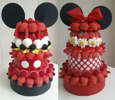 Mickey Birthday, Mickey Party, Sweet Sushi, Marshmallow Cake, Candy Art, Candy Cakes, Minnie Mouse Cake, Candy Bouquet, Specialty Cakes