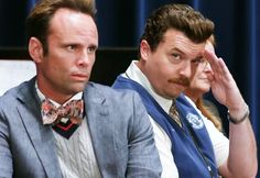 Danny McBride of HBO's Eastbound & Down returns to the network with Vice Principals and he and Walton Goggins are in top form. Vice Principals Hbo, Danny Mcbride, Walton Goggins, Laugh Factory, Timothy Olyphant, Hbo Series, Favorite Tv Shows, Jackson, Funny Stuff