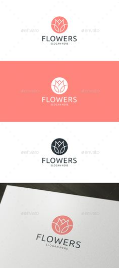 Buy Flower Logo by trustha on GraphicRiver. Logo Template Features CMYK Color AI and EPS files Fully Editable Logo Easy to Change Color and Text Help File with D. Diy Tattoo, Tea Logo, Cosmetic Logo, Florist Logo, Cafe Logo, Flower Logo, Logo Restaurant, Flower Tea, Best Logo Design