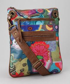 Take a look at this Purple Floral Krin Crossbody Bag by Desigual Women on #zulily today!
