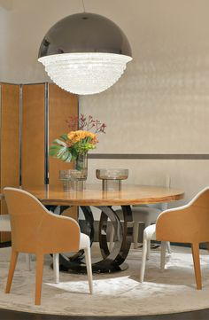 Fendi Casa collection mixing wood, leather, metal and crystal in a luxurious way in the new collection for 2014, Luxury Living Group