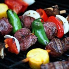 steak kabobs... favorite BBQ-season food!