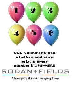 OH MY GOSH YOU GUYS!!! It's a BRAND NEW MONTH, and I am SO incredibly thankful for all of you who helped me reach my goals last month!! So it's time for a GAME!! Behind each of these balloons is a PRIZE! This is for all of you who have NEVER tried R+F, but who have been watching my posts and are curious!!! Best of luck!!!