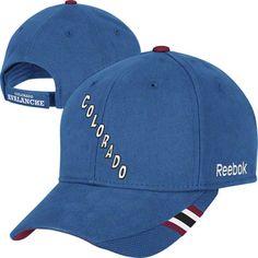 Colorado Avalanche Blue Structured Logo Adjustable Hat