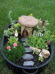 Fairy garden pots! Always always mean to do this.