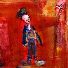 Marianne Aulie - Lillebror Clown Images, Art Work, Fine Art, Texture, Abstract, Painting, Mariana, Kunst, Artwork