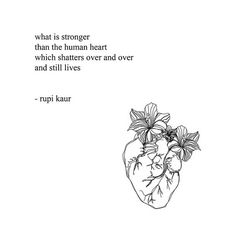 "Poems From ""Milk and Honey"" Rupi Kaur Poem Quotes, Words Quotes, Life Quotes, Sayings, Qoutes, Rumi Quotes, Rupi Kaur Quotes, Edgy Quotes, Strong Quotes"