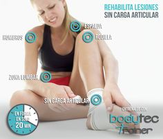 La electroestimulación fortalece más de 300 músculos a la vez y los rehabilita tras las lesiones, por eso cada vez más fisioterapeutas lo utilizan en sus centros. En BodytecTrainer queremos que sigas entrenando sin lastimarte. ¡Pruébanos!