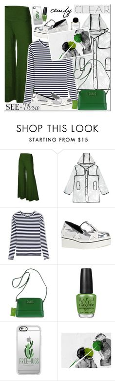 """""""It's all clear now"""" by mada-malureanu ❤ liked on Polyvore featuring New Look, Natasha Zinko, STELLA McCARTNEY, Kate Spade, OPI, Casetify, clear and Seethru"""