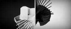 Black&White Animation - You can download the c4d project file for #free.  #c4d #cinema4d #mograph #animation #design #3D #motiongraphics