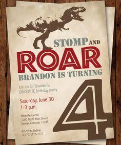 Hey, I found this really awesome Etsy listing at https://www.etsy.com/listing/261888578/dinosaur-birthday-party-invitation