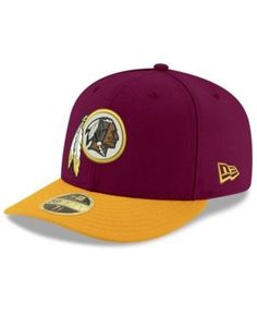 New Era Washington Redskins Team Basic Low Profile 59FIFTY Fitted Cap - Red 6 7/8