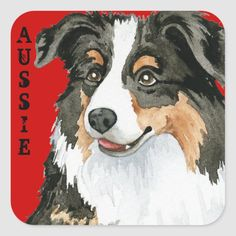 Show off your love for your special dog with this original Australian Shepherd design. Great gift for Aussie-loving family and friends. Size: inch (sheet of Gender: unisex. Aussie Shepherd, Australian Shepherd, Aussie Christmas, Adorable Quotes, Mini Aussie, Herding Dogs, Christmas Drawing, Cute Stickers, Easy Drawings