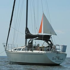 Anchor riding sail, prevents excessive swing