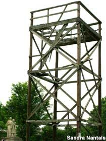 Russian Bomber Watchtower and Monument in West Lafayette, Indiana: