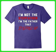 Mens I'm Not The Stepfather I'm Father That Stepped Up T-Shirt 3XL Purple - Relatives and family shirts (*Amazon Partner-Link)