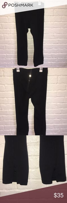 Women's Lululemon Black Capris! Black Lululemon Capris WITH bottom zippers on back calf side.  Just recently purchased from another POSHER and they're Too big for me.   SUPER CUTE WORKOUT CAPRIS!!! lululemon athletica Pants Capris
