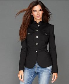 Simple&Sophisticated. INC International Concepts Jacket, Ponte-Knit Band - Jackets & Blazers - Women - Macy's