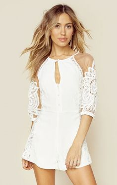 1888ee2e4908 For Love And Lemons The Looks Boho Bride Valentina Romper Wedding Rompers