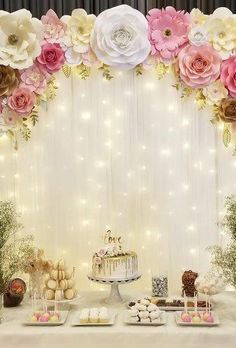 42 Most Pinned Wedding Backdrop Ideas 2019 Most Pinned Wedding Backdrop Ideas 2019 ★ wedding backdrop ideas soft light backdrop madebyjesslee Quince Decorations, Bridal Shower Decorations, Birthday Party Decorations, Wedding Decorations, Birthday Parties, Wedding Backdrops, Diy Quinceanera Decorations, Wedding Centerpieces, Party Themes