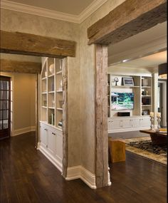 rustic beams interior- door jambs