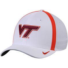 new product e035f d8a9f Men s Nike White Virginia Tech Hokies 2017 AeroBill Sideline Swoosh Coaches  Performance Flex Hat