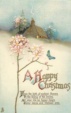 Old Christmas Post Сards — Snow Scenes, 1925  (569 x900)