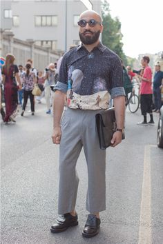 grey pants | #fashion #streetstyle | http://lkl.st/X5Vt1m | See more on https://www.lookli.st #Looklist