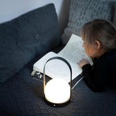 CARRIE - Lampe baladeuse LED rechargeable Noir H24,5cm Menu