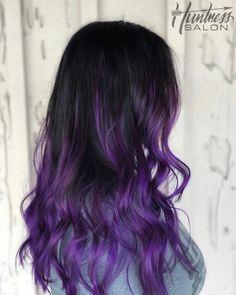 Here's How to Get Rainbow Hair if You're a Brunette Dark Purple Hair Color, Light Purple Hair, Pretty Hair Color, Lilac Hair, Pastel Hair, Green Hair, Blue Hair, Hair Streaks, Hair Highlights