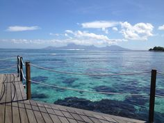 Honeymoons <3 GORGEOUS Tahiti.  Check out that water, Moorea in background...  855.680.LOVE