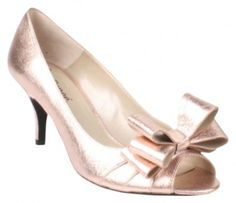J. Renee Leather Open Toe Pump Rose Gold Formal Shoes $17