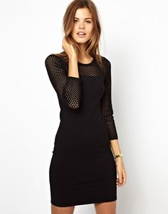 Karen Millen Dress with Knitted Mesh Panel